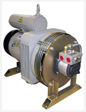 Hydraulically driven compressor